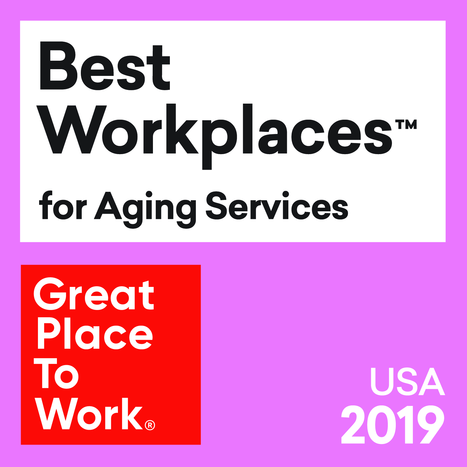 Sheridan In-Home Care Named One of the 2019 Best Workplaces for Aging Services by Great Place to Work® and FORTUNE